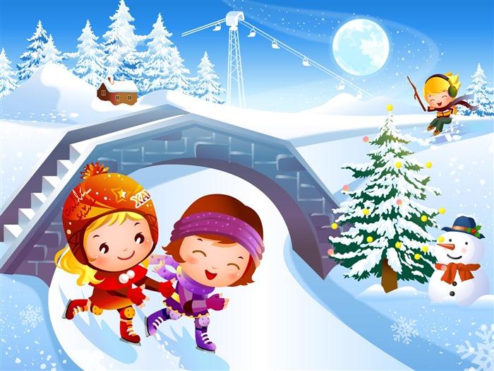 Мультяшные Новогодние картинки для детей Новогодние картинки