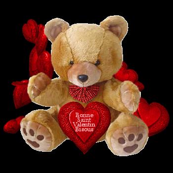 Валентинка медвежонок День Святого Валентина