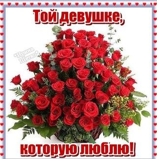 Цветы девушке которую люблю Цветы