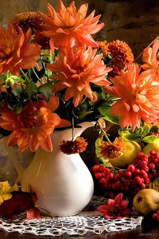 Осенний букет цветов Времена года осень